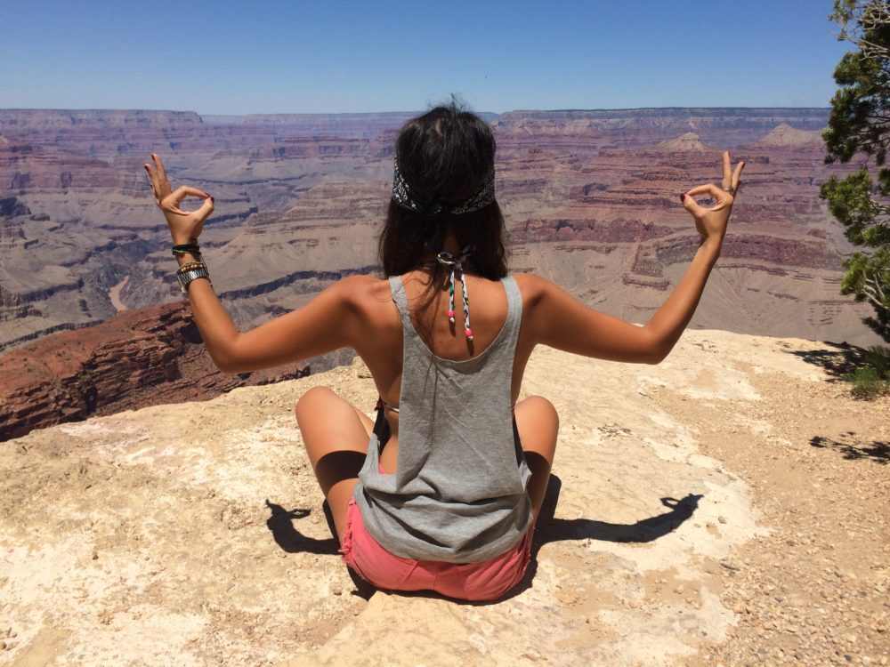 Momento zen al Grand Canyon